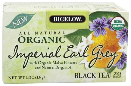 DROPPED: Bigelow Tea - All Natural Organic Black Tea Imperial Earl Grey - 20 Tea Bags