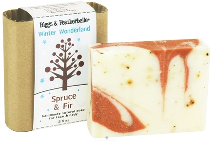 DROPPED: Biggs & Featherbelle - Handmade Natural Soap Winter Wonderland Spruce & Fir - 3.5 oz.