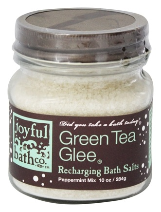 DROPPED: Joyful Bath Co - Bath Salts Recharging Green Tea Glee - 10 oz. CLEARANCE PRICED