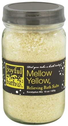 DROPPED: Joyful Bath Co - Bath Salts Relieving Mellow Yellow - 15 oz. CLEARANCE PRICED