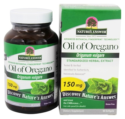 Nature's Answer - Oil of Oregano Standardized 150 mg. - 90 Softgels