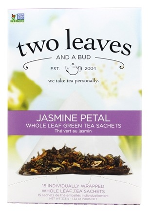 DROPPED: Two Leaves Tea Company - Green Tea Jasmine Petal - 15 Tea Bags Formerly Two Leaves and a Bud