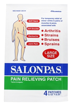 Zoom View - Pain Relieving Patch Large Size 5.12 in. x 3.31 in.