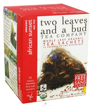 DROPPED: Two Leaves And A Bud - Red Rooibos Tea Organic African Sunset - 15 Tea Bags