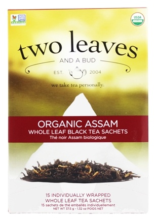 DROPPED: Two Leaves Tea Company - Black Tea Organic Assam - 15 Tea Bags Formerly Two Leaves and a Bud