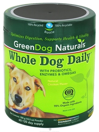 DROPPED: Green Dog Naturals - Whole Dog Daily Powder with Probiotics and Omegas - 300 Grams