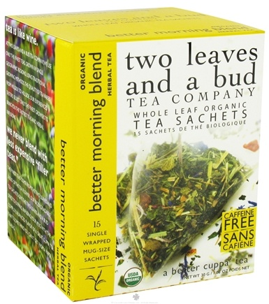 DROPPED: Two Leaves Tea Company - Herbal Tea Organic Better Morning Blend - 15 Tea Bags  Formerly Two Leaves and a Bud