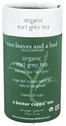 DROPPED: Two Leaves Tea Company - Black Tea Organic Earl Grey - 3.5 oz. Formerly Two Leaves and a Bud CLEARANCE PRICED