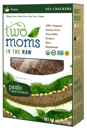 DROPPED: Two Moms in The Raw - Gluten Free Organic Sea Cracker Pesto - 4 oz.