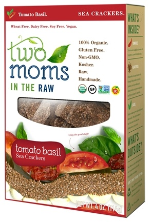 DROPPED: Two Moms in The Raw - Gluten Free Organic Sea Cracker Tomato Basil - 4 oz.
