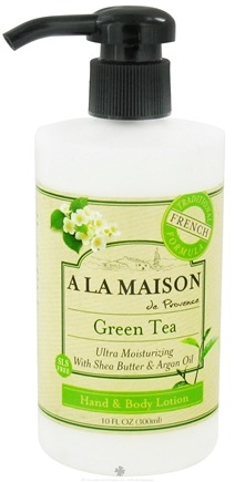 DROPPED: A La Maison - Traditional French Formula Hand & Body Lotion Green Tea - 10 oz.