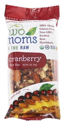 DROPPED: Two Moms in The Raw - Gluten Free Organic Nut Bar Cranberry - 2 oz.