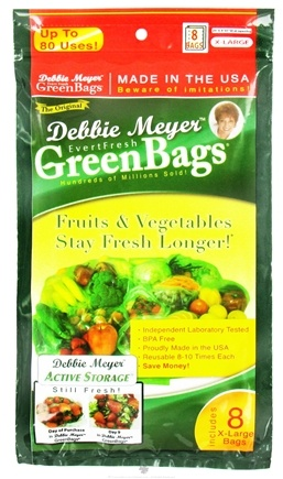 DROPPED: Evert-Fresh Corp. - Debbie Meyer Green Bags - 8 X-Large Bags