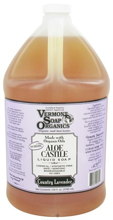 DROPPED: Vermont Soapworks - Aloe Castile Liquid Soap Country Lavender - 1 Gallon CLEARANCE PRICED