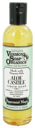 DROPPED: Vermont Soapworks - Aloe Castile Liquid Soap Peppermint Magic - 8 oz. CLEARANCE PRICED