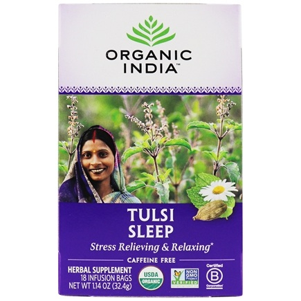 Organic India - True Wellness Tusli Sleep Tea - 18 Tea Bags