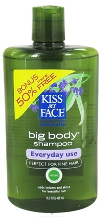 DROPPED: Kiss My Face - Shampoo Big Body Everyday Use Lavender & Chamomile - 16.5 oz. Bonus 50% More Free