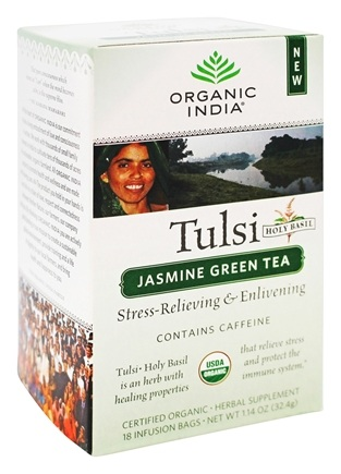 DROPPED: Organic India - Tulsi Tea Jasmine Green Tea - 18 Tea Bags