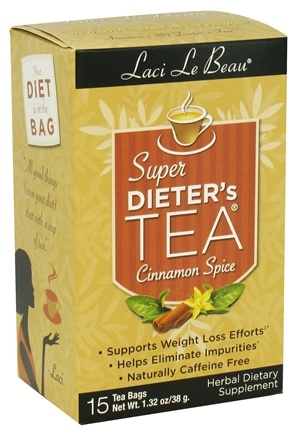 DROPPED: Laci Le Beau - Super Dieter's Tea Cleanse Cinnamon Spice - 15 Tea Bags