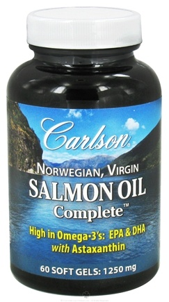 DROPPED: Carlson Labs - Norwegian Virgin Salmon Oil Complete 1250 mg. - 60 Softgels CLEARANCE PRICED