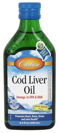 DROPPED: Carlson Labs - Cod Liver Oil Fruit Splash - 8.4 oz.