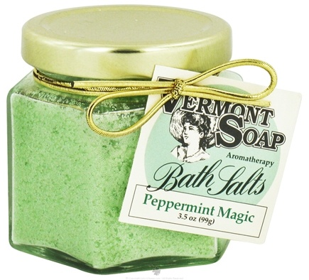 DROPPED: Vermont Soapworks - Bath Salts Aromatherapy Peppermint Magic - 3.5 oz. CLEARANCE PRICED