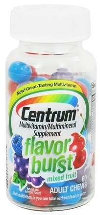 DROPPED: Centrum - Flavor Burst Multivitamin/Multimineral Mixed Fruit Flavor - 60 Chews
