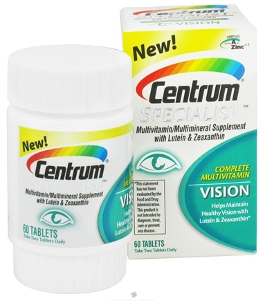 DROPPED: Centrum - Specialist Complete Multivitamin Vision - 60 Tablets