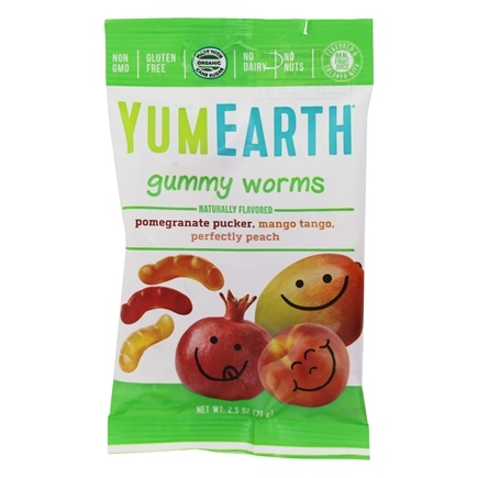 Yum Earth - Organic Gluten-Free Gummy Worms - 2.5 oz.