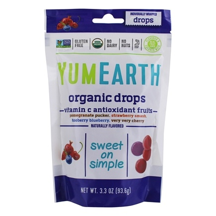 Yum Earth - Organic Vitamin C Anti-Oxifruits Drops - 3.3 oz.