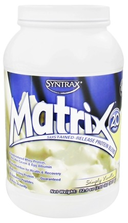 DROPPED: Syntrax - Matrix 2.0 Sustained-Release Protein Blend Simply Vanilla - 2 lbs. CLEARANCE PRICED