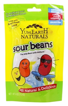 Yum Earth - All Natural Gluten-Free Sour Jelly Beans - 4 oz.