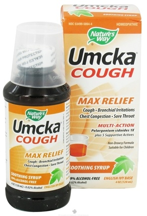 DROPPED: Nature's Way - Umcka Cough Max Relief Soothing Syrup - 4 oz.