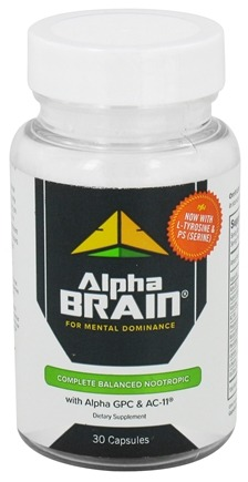 DROPPED: Onnit - Alpha Brain for Mental Dominance - 30 Capsules with Oat Straw Extract