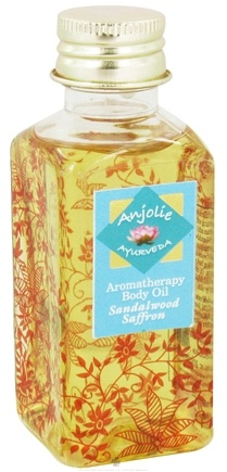 DROPPED: Anjolie Ayurveda - Aromatherapy Body Oil Sandalwood Saffron - 3.72 oz. CLEARANCED PRICED