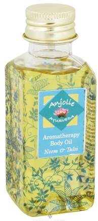 DROPPED: Anjolie Ayurveda - Aromatherapy Body Oil Neem Tulsi - 3.72 oz. CLEARANCED PRICED