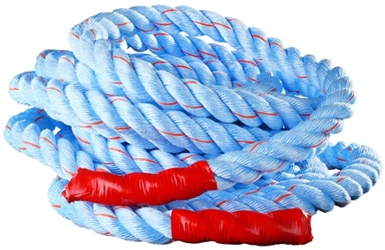 DROPPED: Onnit - Battle Rope (1.5 inches x 50 feet) Blue and Red Tracer - CLEARANCE PRICED