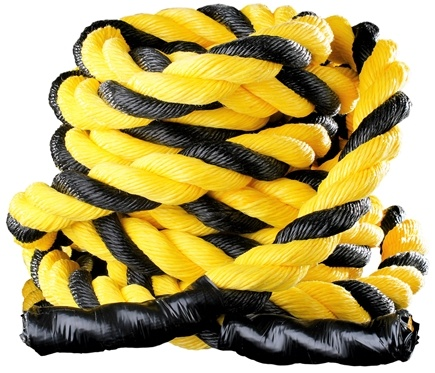 DROPPED: Onnit - Battle Rope (2 inches x 40 feet) Black and Yellow