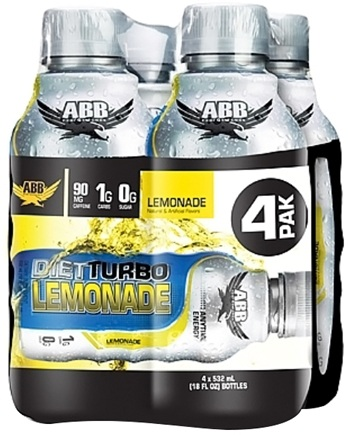 DROPPED: ABB Performance - Diet Turbo Lemonade 18 oz. - 4 Pack CLEARANCE PRICED