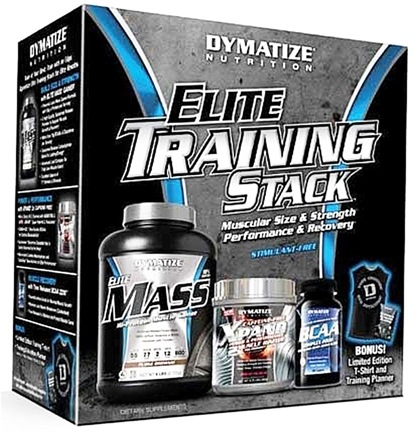 DROPPED: Dymatize Nutrition - Dymatize Elite Training Stack Limited Edition with T-Shirt and Training Guide - CLEARANCE PRICED