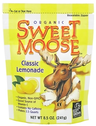 DROPPED: FunFresh Foods - Sweet Moose Organic Classic Lemonade - 8.5 oz. CLEARANCE PRICED