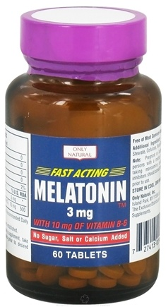 DROPPED: Only Natural - Fast-Acting Melatonin 3 mg. - 60 Tablets CLEARANCE PRICED