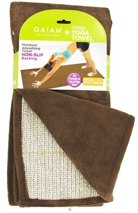 Zoom View - Grippy Yoga Towel Brown