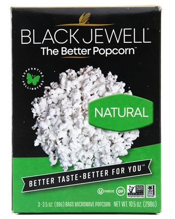 Black Jewell All Natural Microwave Popcorn 3 Bags Flavor 10 5 Oz