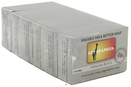 DROPPED: Out Of Africa - Organic Shea Butter Mini Bar Soap African Black - 6 x 1.7 oz. Travel Size Bars