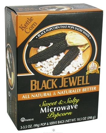 DROPPED: Black Jewell - All Natural Microwave Popcorn 3 Bags Sweet & Salty Flavor - 10.5 oz.