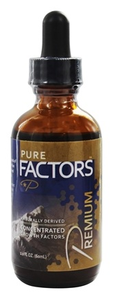 Pure Solutions - Pure Factors Premium Concentrated Growth Factors From Deer Velvet Antler Extract 36 mg. - 2 oz.