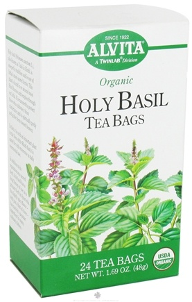Zoom View - Organic Holy Basil Tea Caffeine Free