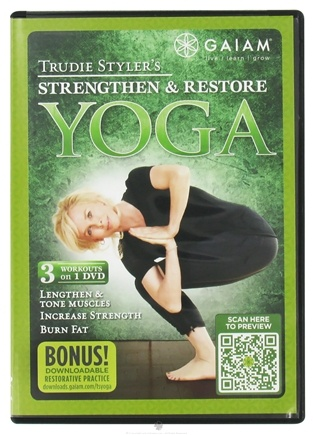 DROPPED: Gaiam - Yoga Strengthen & Restore DVD with Trudie Styler