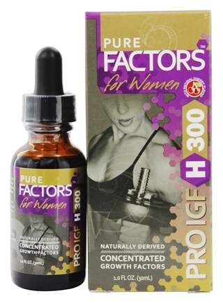 Pure Solutions - Pure Factors For Women Pro IGF H 300 From Deer Velvet Antler Extract - 1 oz.